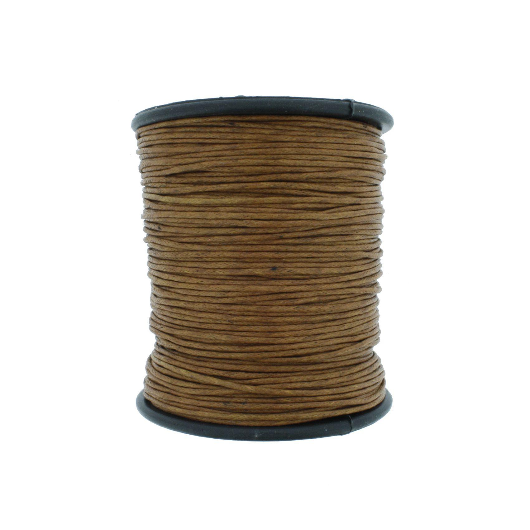 Cordão Encerado - Work® - Ferrugem - 1mm  - Stéphanie Bijoux® - Peças para Bijuterias e Artesanato