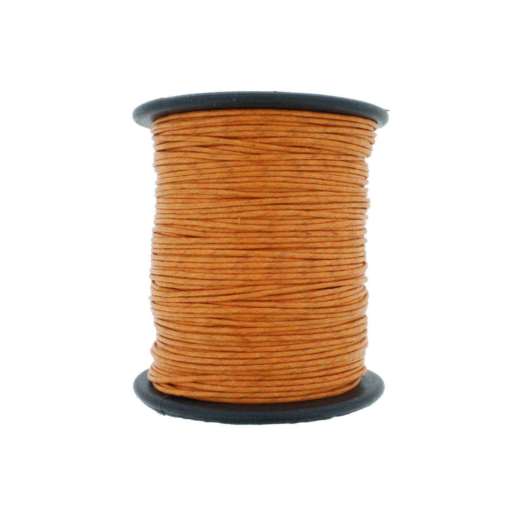Cordão Encerado - Work® - Laranja - 1mm  - Stéphanie Bijoux® - Peças para Bijuterias e Artesanato
