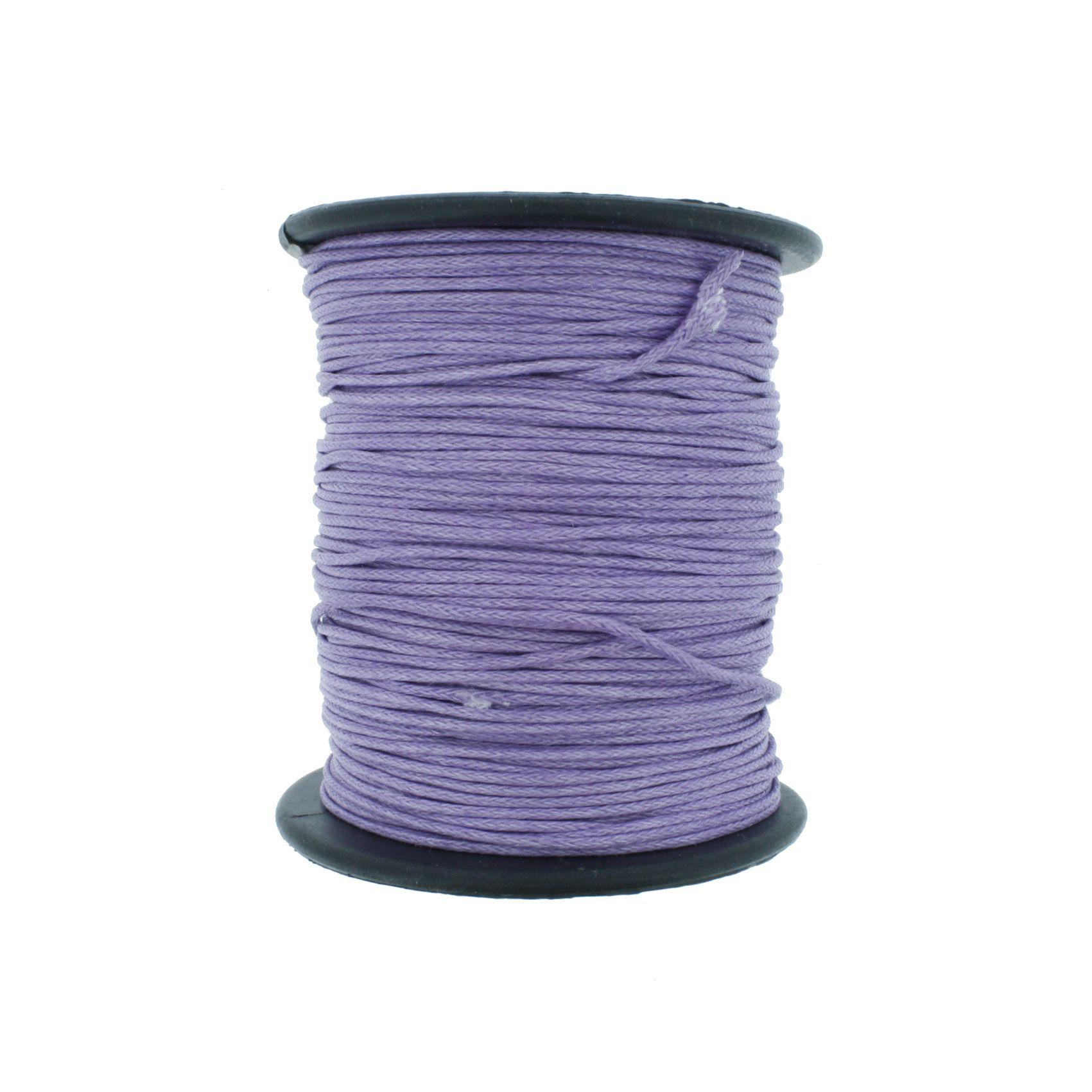 Cordão Encerado - Work® - Lilás - 1mm  - Stéphanie Bijoux® - Peças para Bijuterias e Artesanato