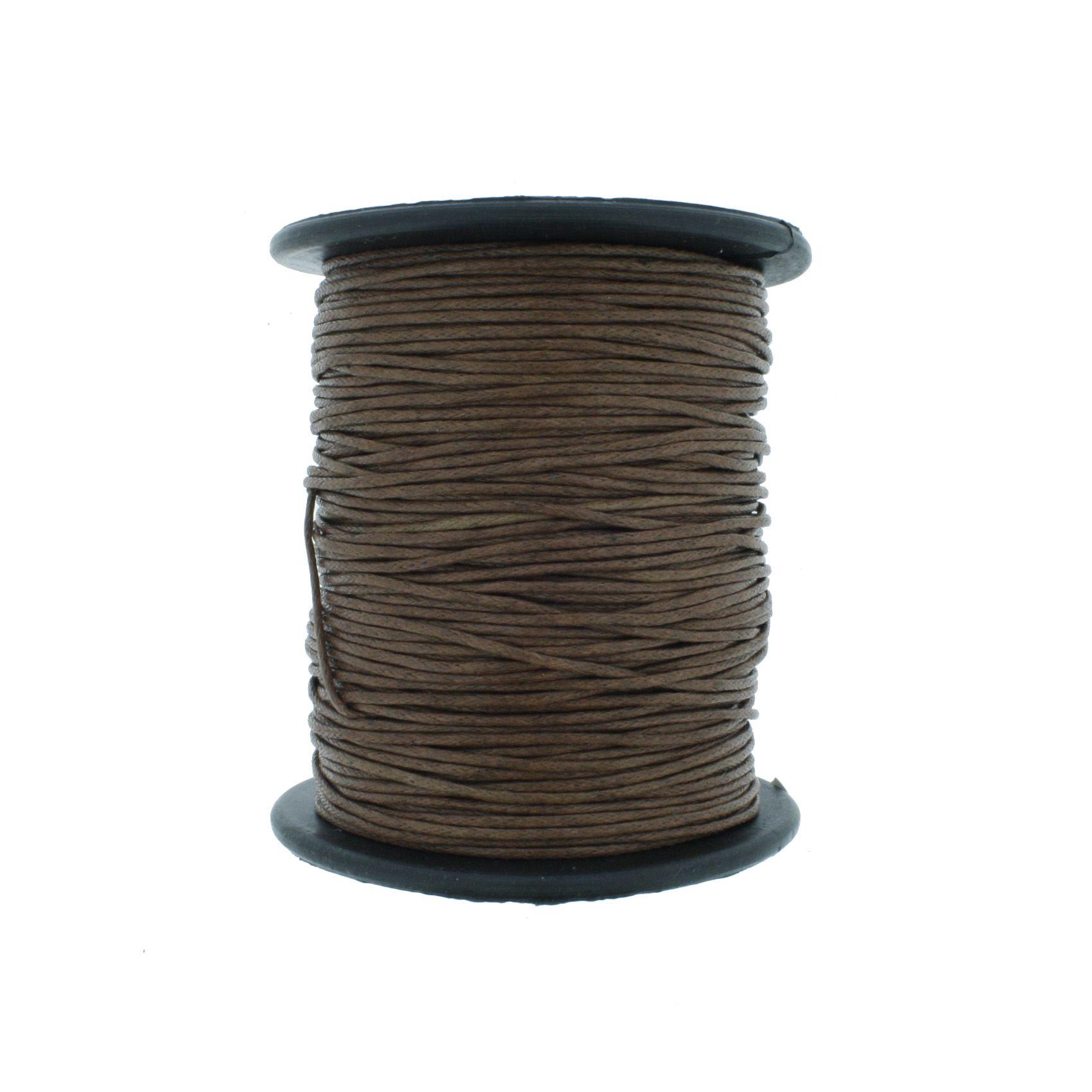 Cordão Encerado - Work® - Marrom - 1mm  - Stéphanie Bijoux® - Peças para Bijuterias e Artesanato