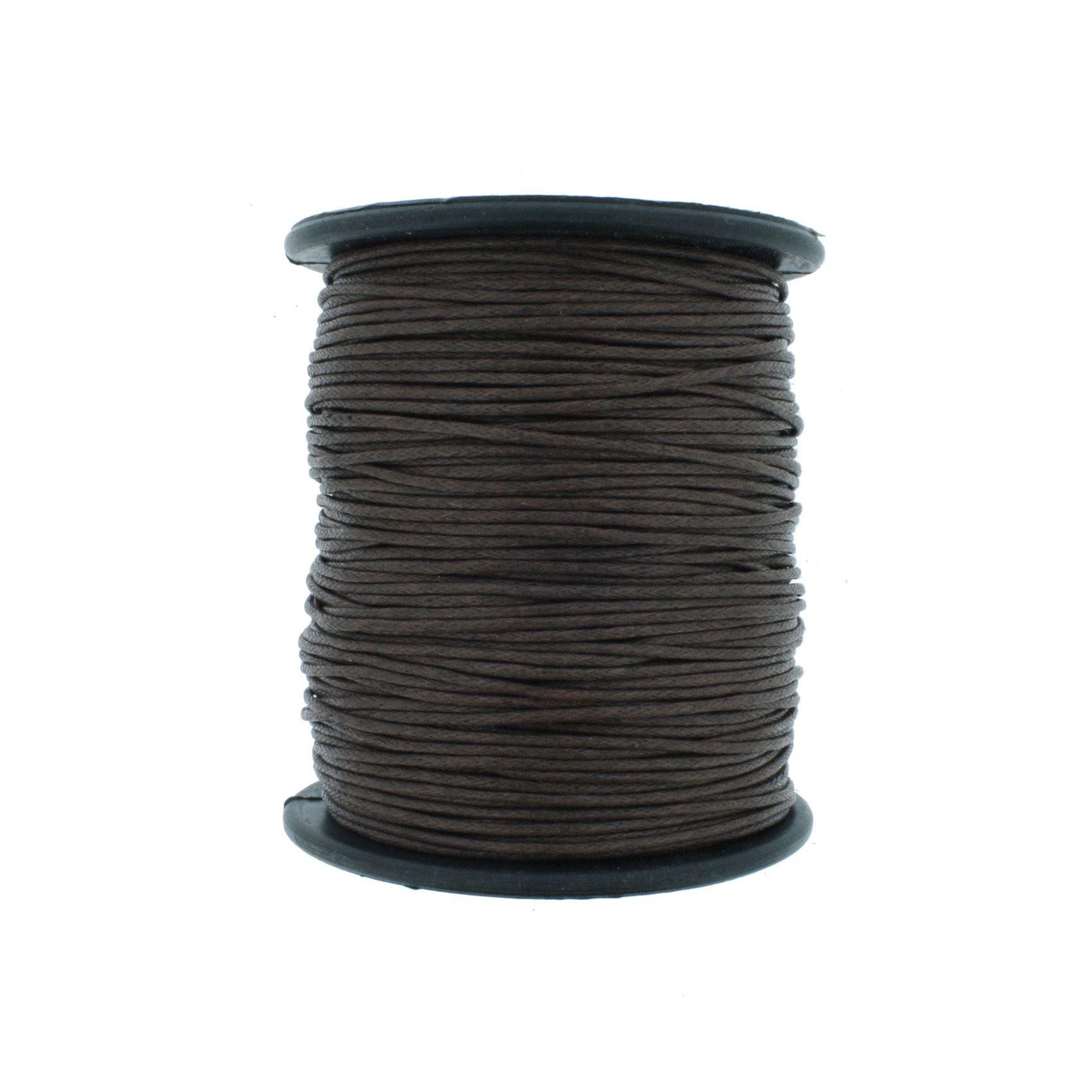 Cordão Encerado - Work® - Marrom Café - 1mm  - Stéphanie Bijoux® - Peças para Bijuterias e Artesanato