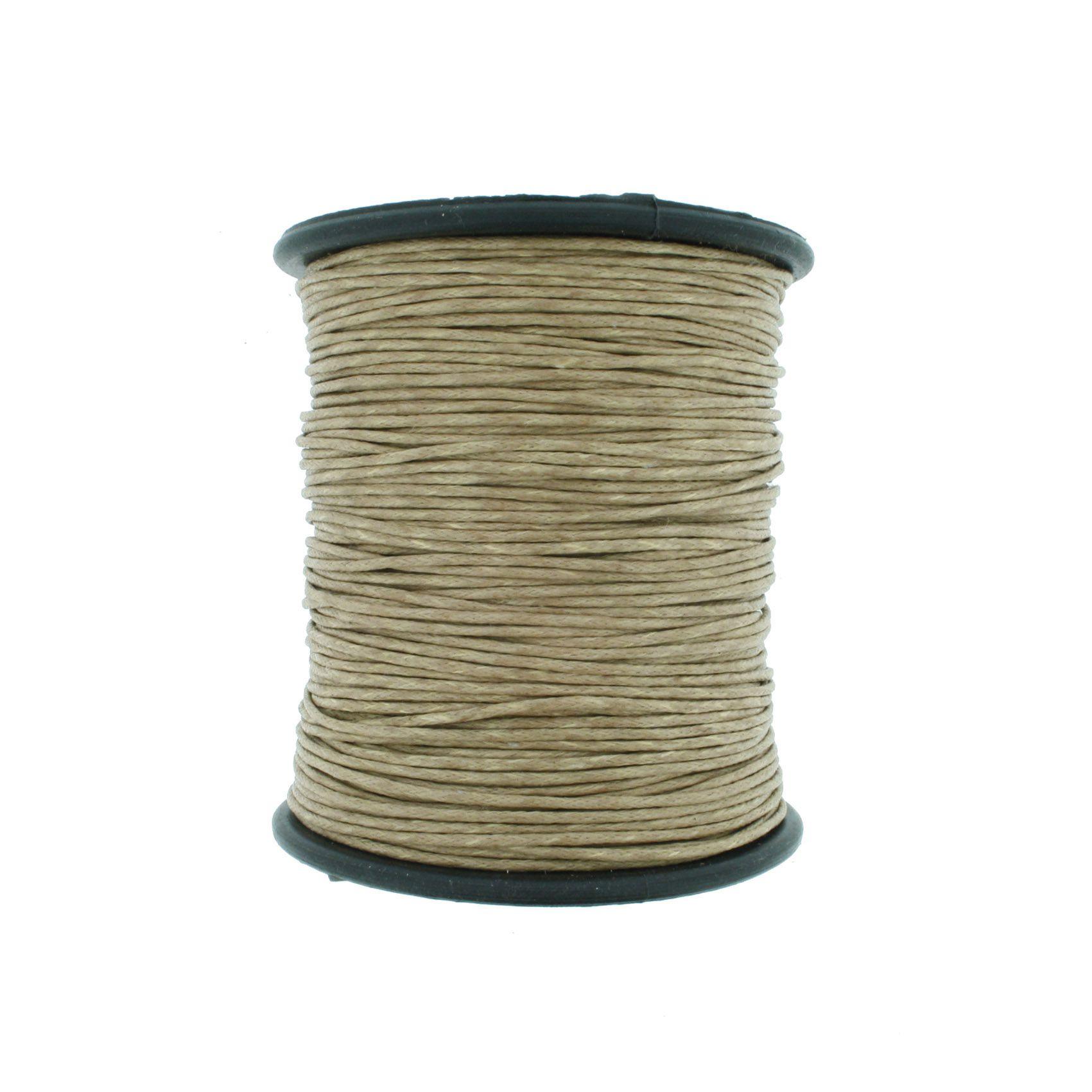 Cordão Encerado - Work® - Palha - 1mm  - Stéphanie Bijoux® - Peças para Bijuterias e Artesanato