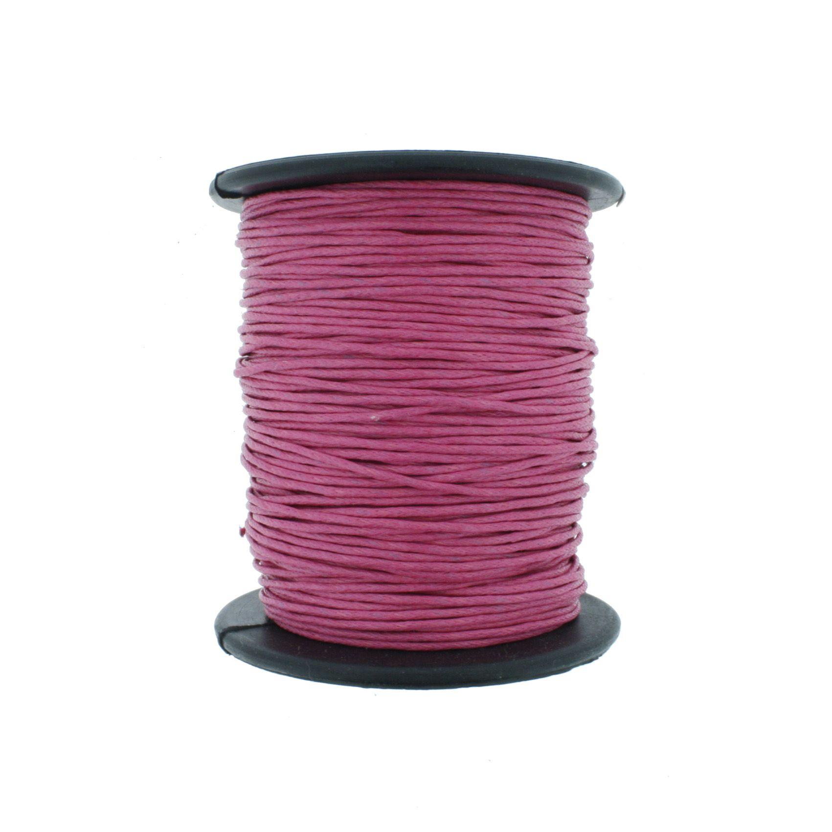 Cordão Encerado - Work® - Pink - 1mm  - Stéphanie Bijoux® - Peças para Bijuterias e Artesanato