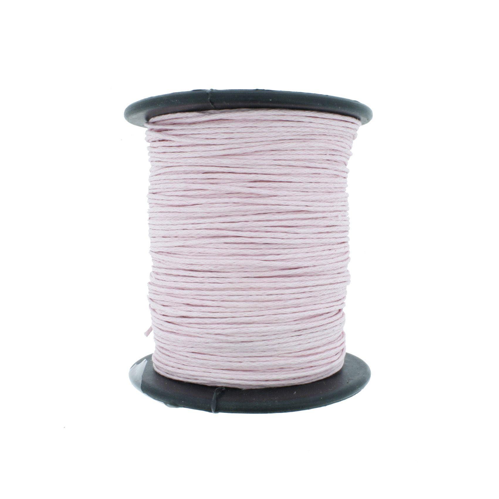 Cordão Encerado - Work® - Rosa - 1mm  - Stéphanie Bijoux® - Peças para Bijuterias e Artesanato