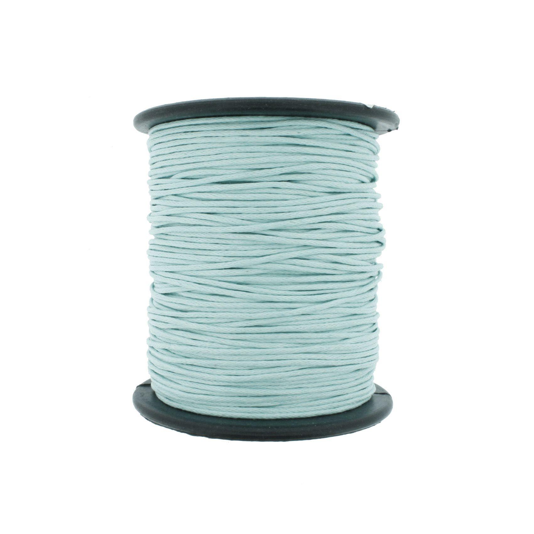 Cordão Encerado - Work® - Verde Água - 1mm  - Stéphanie Bijoux® - Peças para Bijuterias e Artesanato