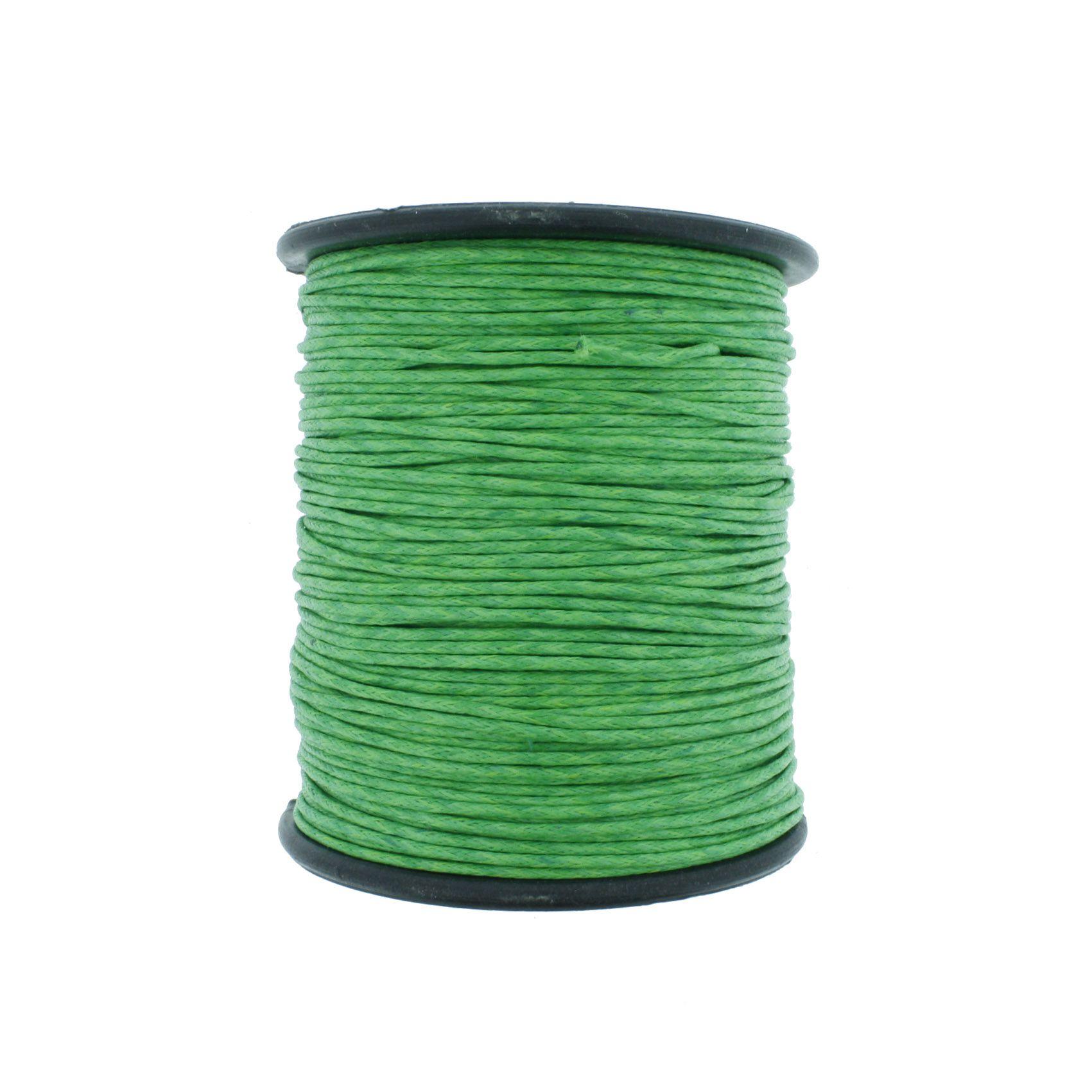 Cordão Encerado - Work® - Verde Claro - 1mm  - Stéphanie Bijoux® - Peças para Bijuterias e Artesanato