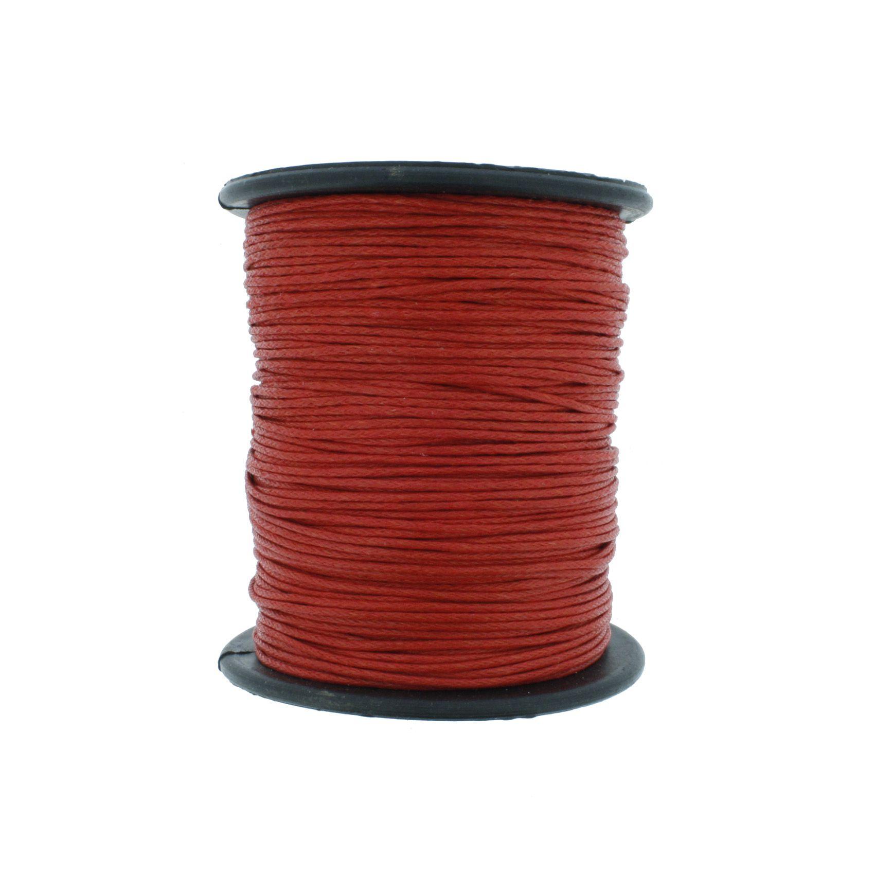 Cordão Encerado - Work® - Vermelho - 1mm  - Stéphanie Bijoux® - Peças para Bijuterias e Artesanato