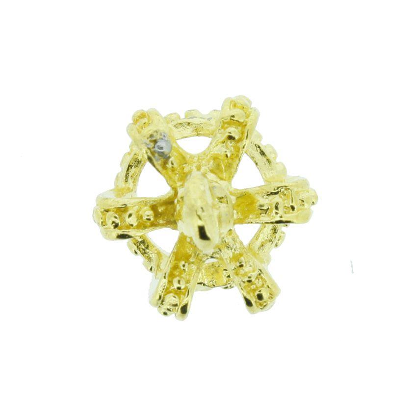 Coroa - Dourado - 14mm  - Stéphanie Bijoux® - Peças para Bijuterias e Artesanato
