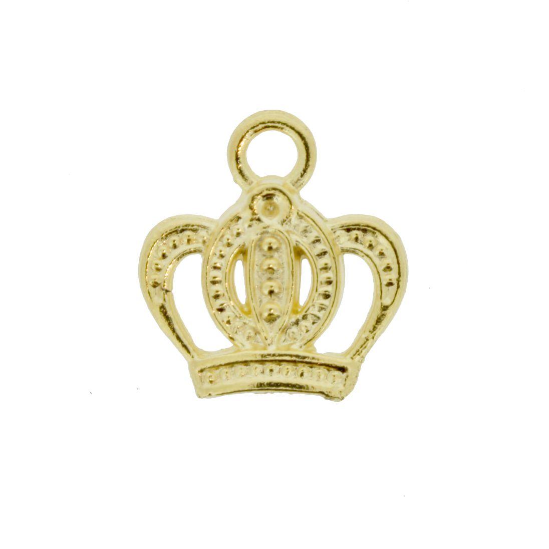 Coroa - Dourado - 17mm  - Stéphanie Bijoux® - Peças para Bijuterias e Artesanato