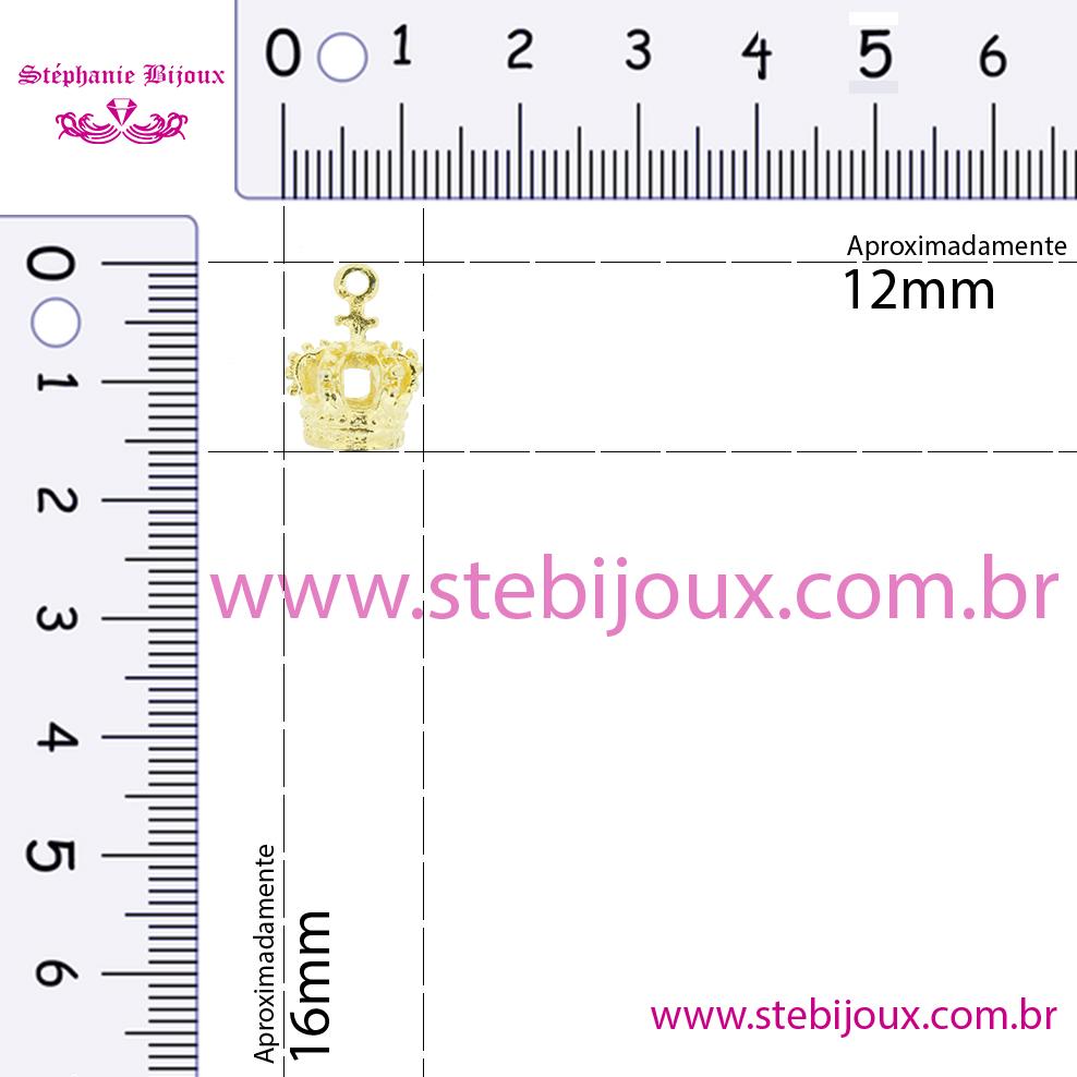 Coroa - Níquel - 16mm  - Stéphanie Bijoux® - Peças para Bijuterias e Artesanato