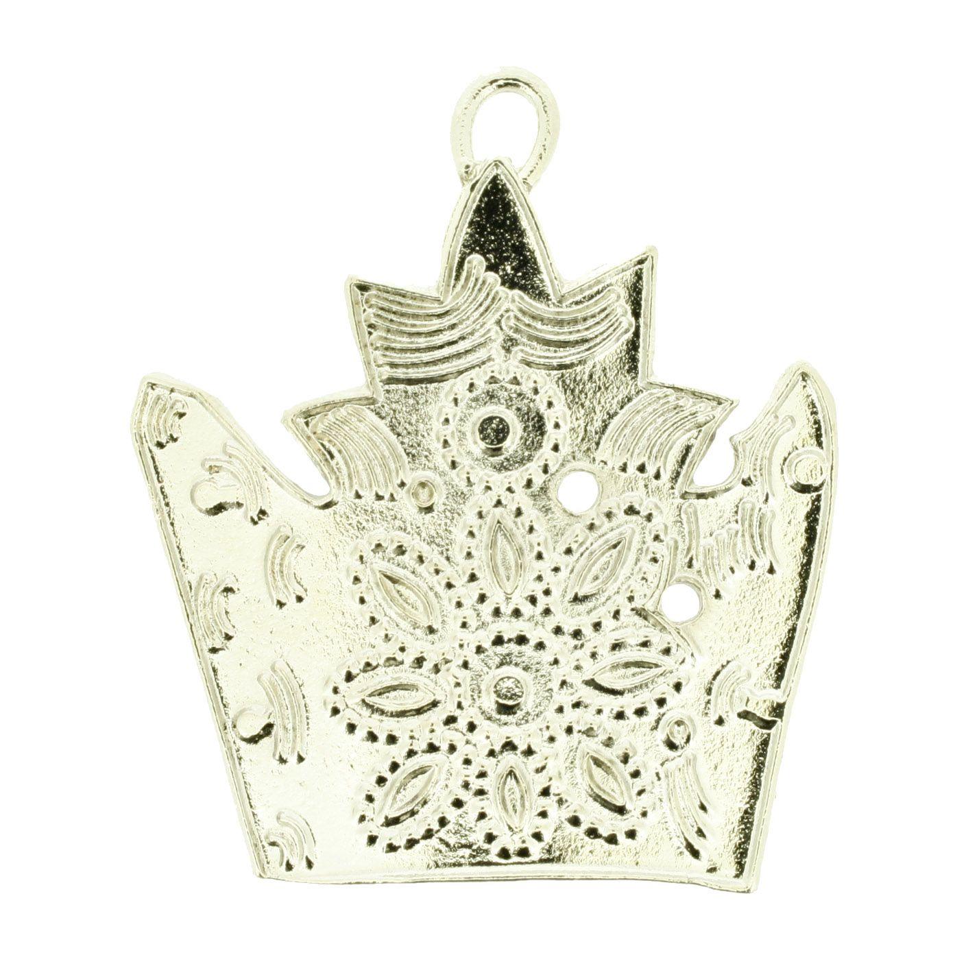 Coroa - Níquel - 51mm - 01 Peça  - Stéphanie Bijoux® - Peças para Bijuterias e Artesanato