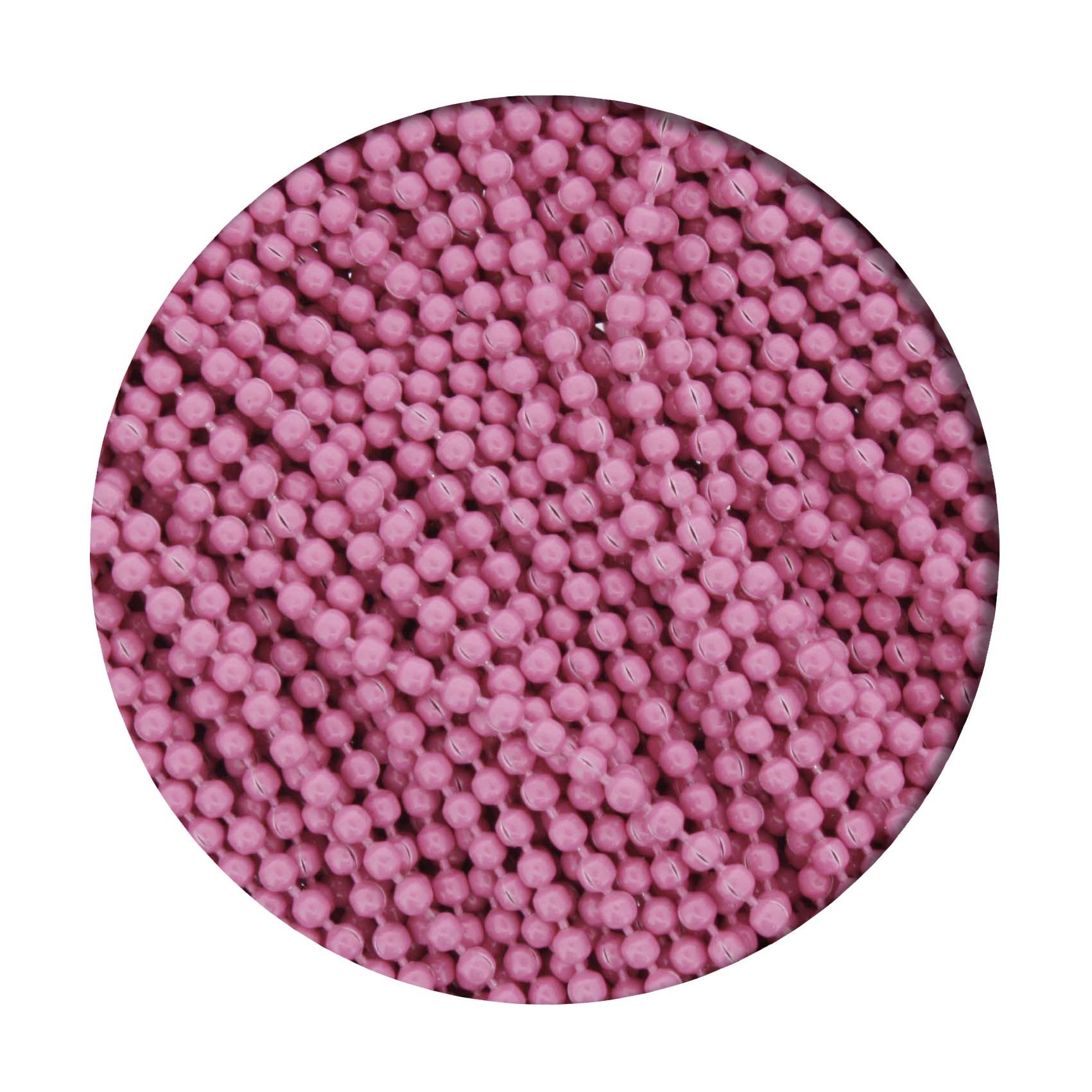 Corrente de Bolinha - 1,5mm - Rosa  - Stéphanie Bijoux® - Peças para Bijuterias e Artesanato