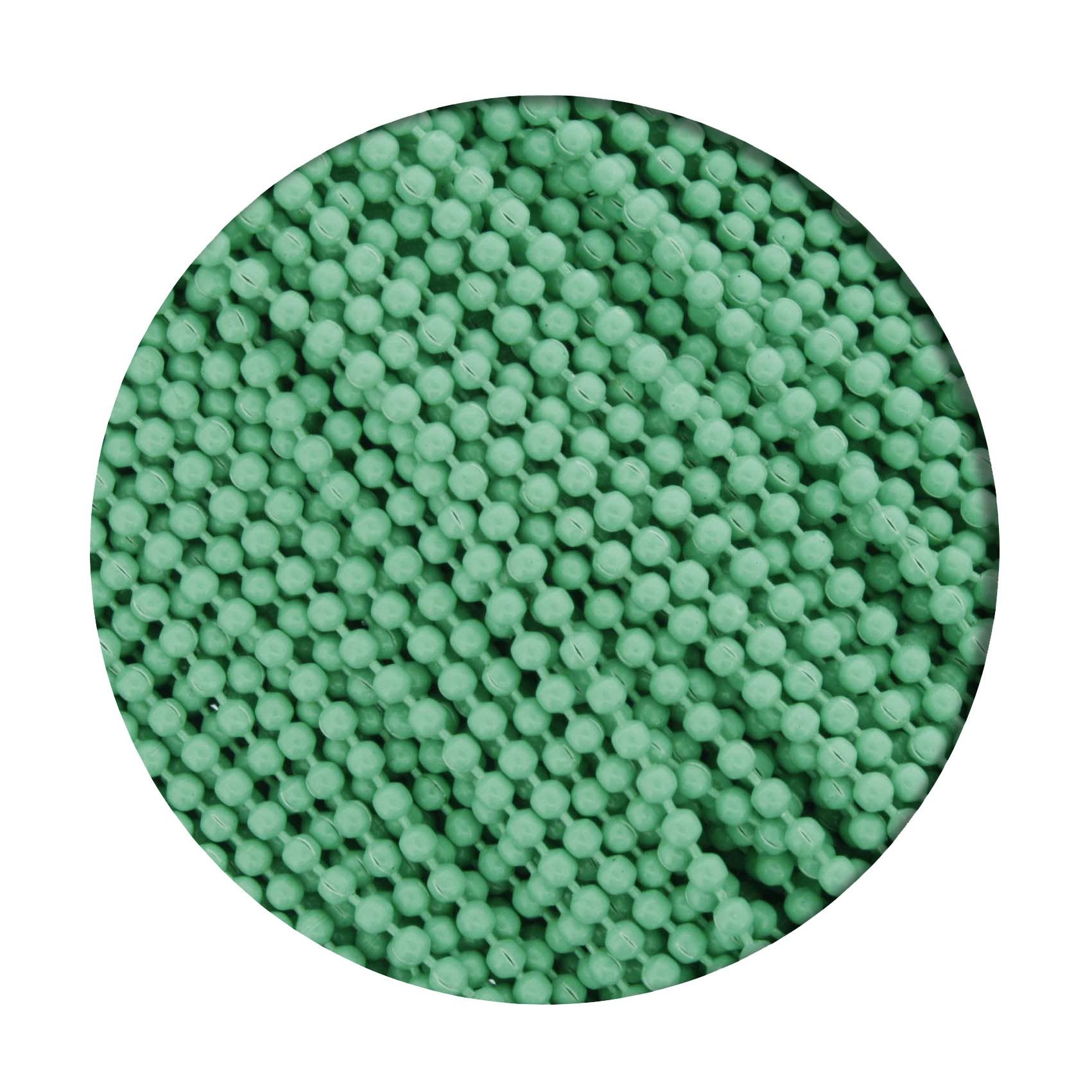 Corrente de Bolinha - 1,5mm - Verde Água  - Stéphanie Bijoux® - Peças para Bijuterias e Artesanato