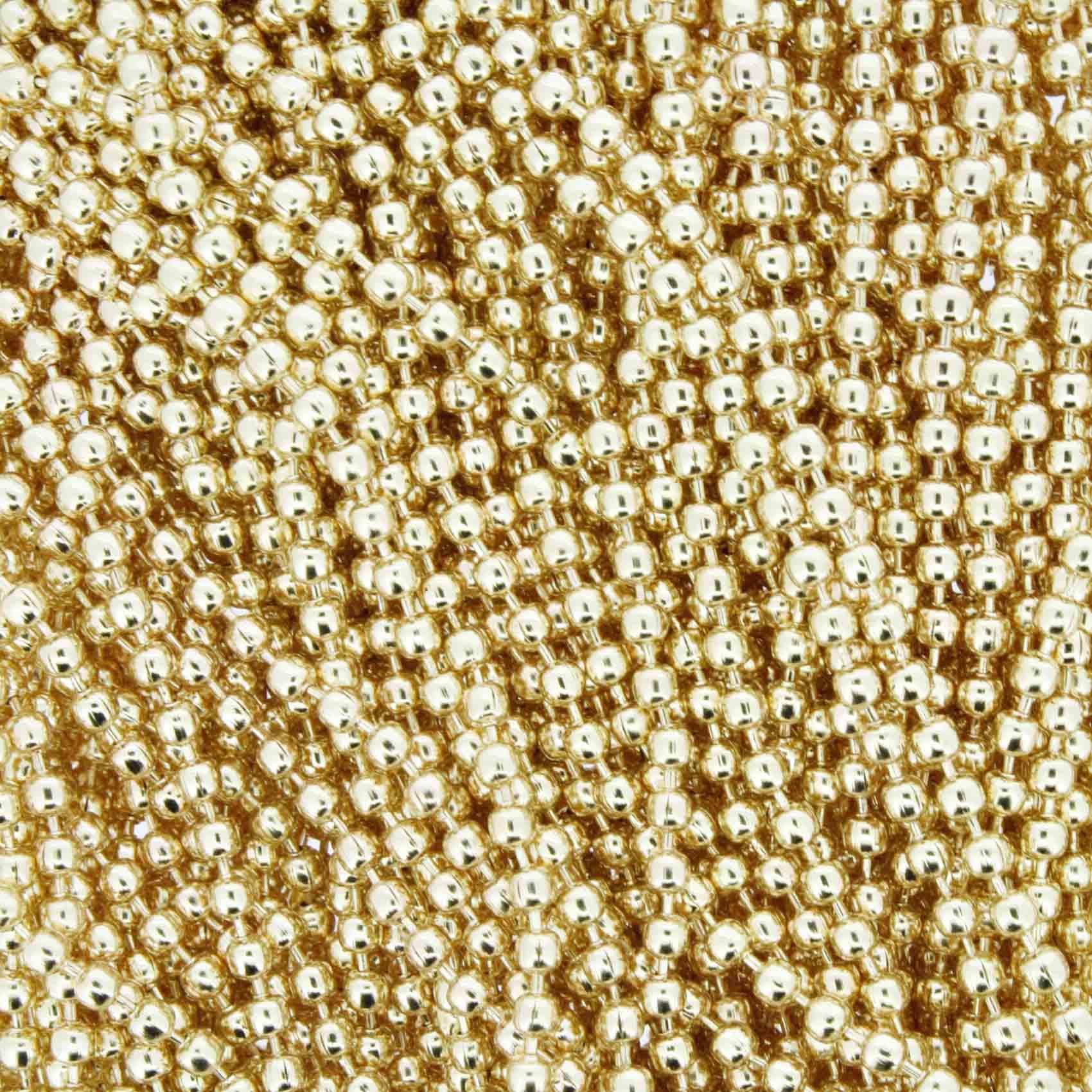 Corrente de Bolinha - 2,0mm - Dourada  - Stéphanie Bijoux® - Peças para Bijuterias e Artesanato
