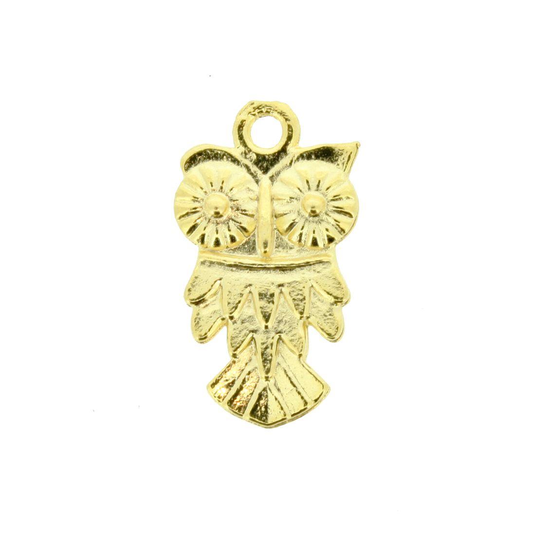 Coruja - Dourado - 19mm  - Stéphanie Bijoux® - Peças para Bijuterias e Artesanato