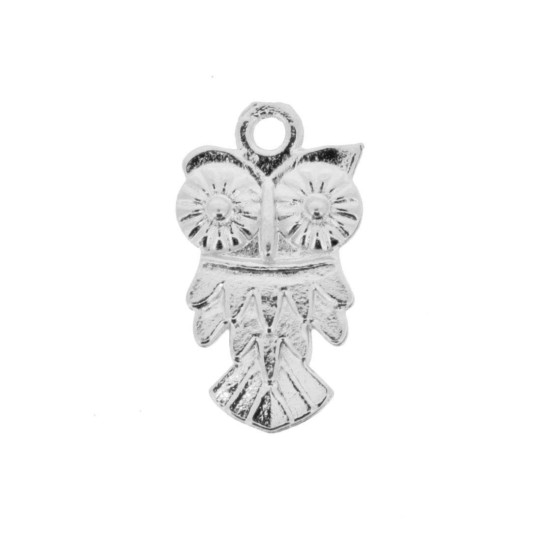 Coruja - Níquel - 19mm  - Stéphanie Bijoux® - Peças para Bijuterias e Artesanato