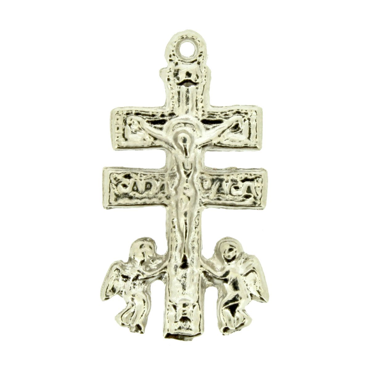 Cruz de Caravaca - Níquel - 28mm - 01 Peça  - Stéphanie Bijoux® - Peças para Bijuterias e Artesanato