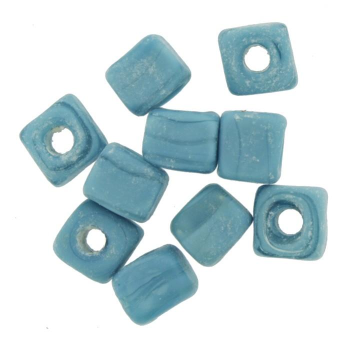 Cubo Vidro - Azul Claro - Ref.: MC39  - Stéphanie Bijoux® - Peças para Bijuterias e Artesanato