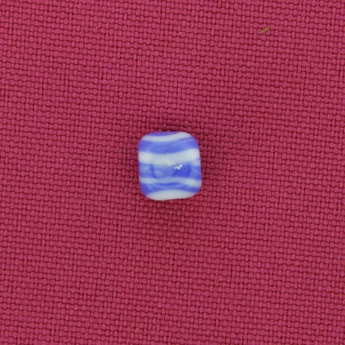 Cubo Vidro - Azul e Branco - Ref.: MC1335  - Stéphanie Bijoux® - Peças para Bijuterias e Artesanato