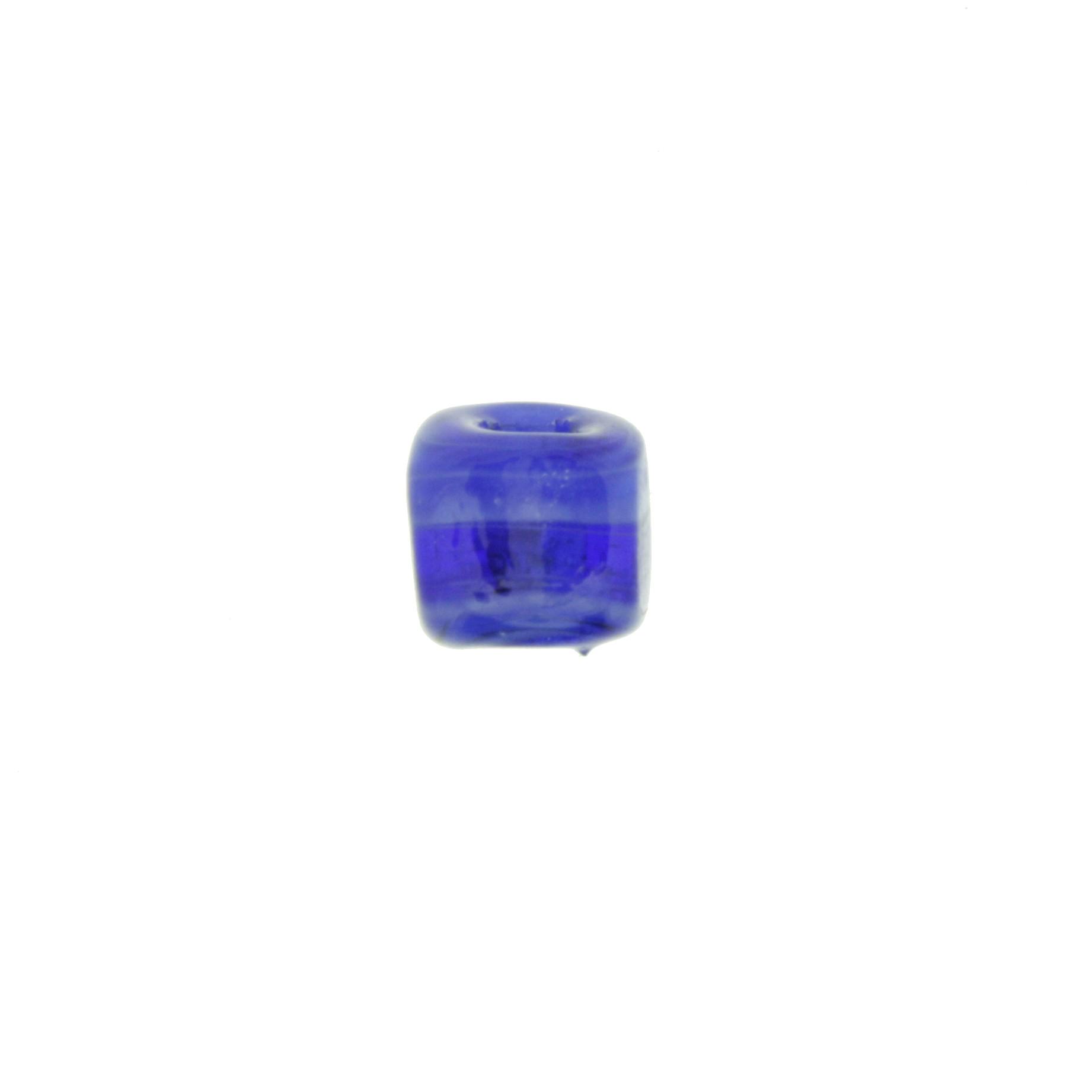 Cubo Vidro - Azul Transparente - Ref.: MC410  - Stéphanie Bijoux® - Peças para Bijuterias e Artesanato