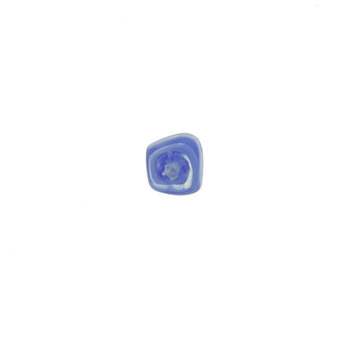 Cubo Vidro - Transparente e Azul - Ref.: MC763  - Stéphanie Bijoux® - Peças para Bijuterias e Artesanato