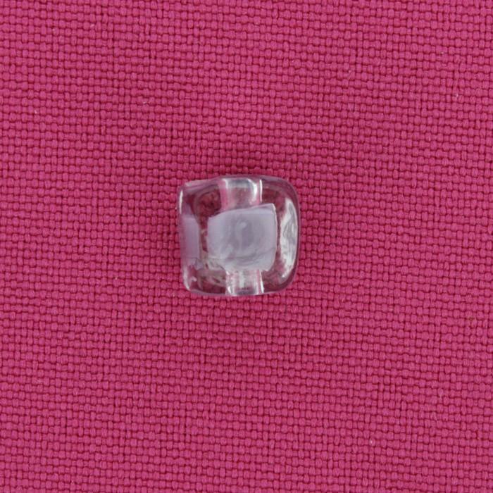 Cubo Vidro - Transparente e Cinza - Ref.: MC335  - Stéphanie Bijoux® - Peças para Bijuterias e Artesanato