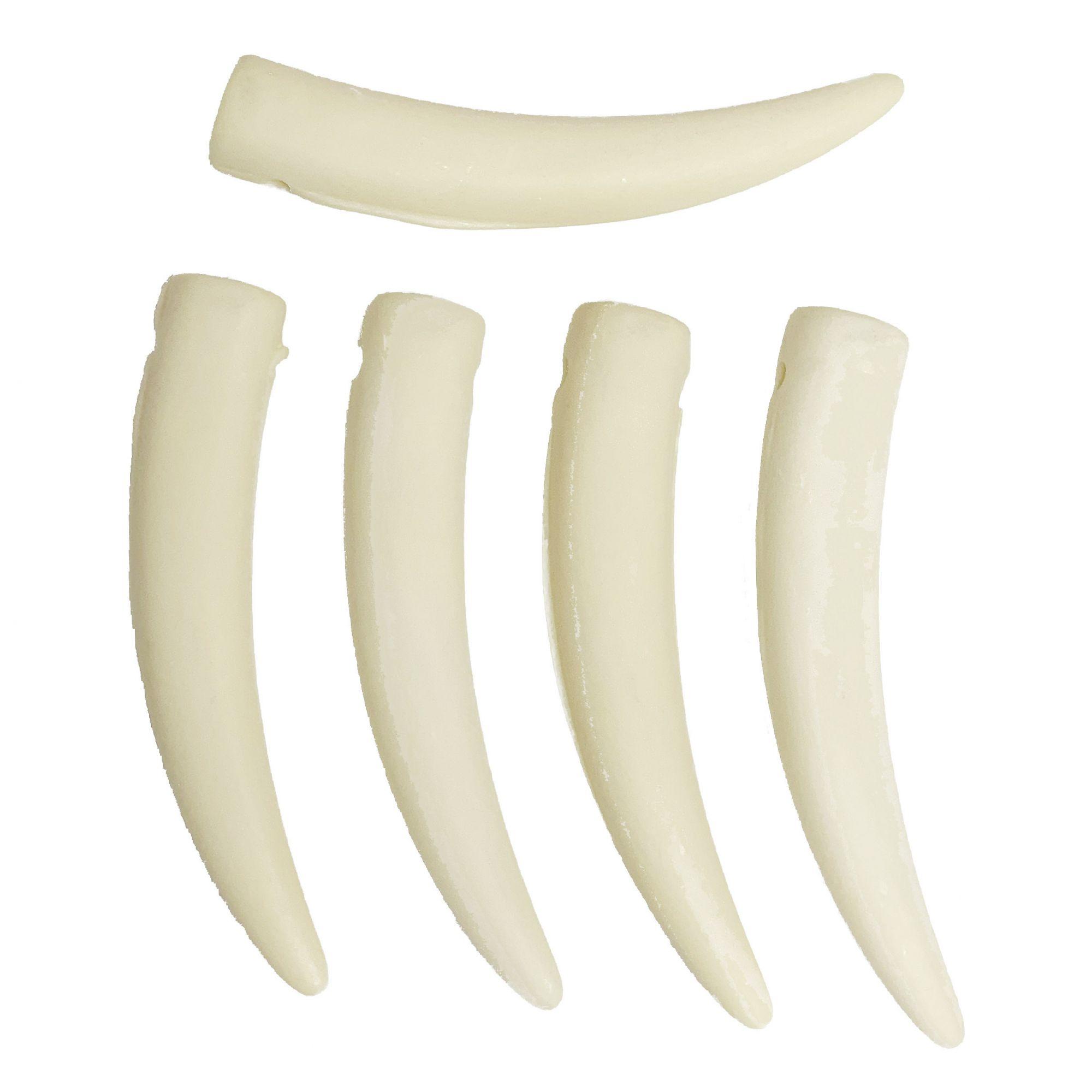 Dente de Resina - 74mm  - Stéphanie Bijoux® - Peças para Bijuterias e Artesanato