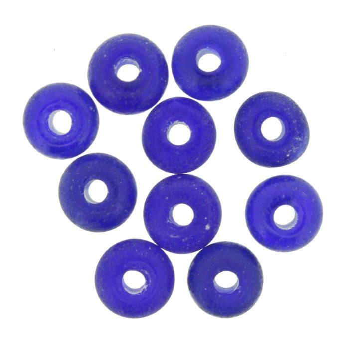 Disco Vidro - Azul Transparente - Ref.: MD490  - Stéphanie Bijoux® - Peças para Bijuterias e Artesanato