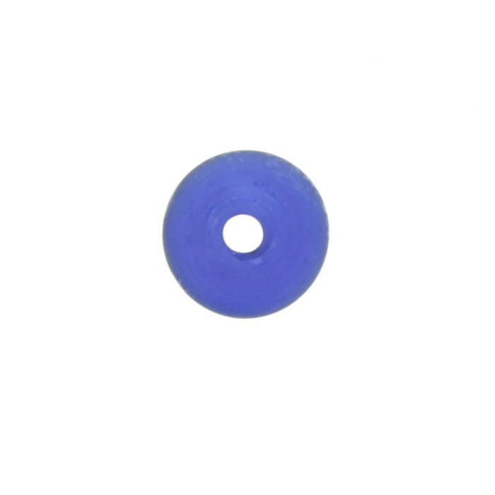 Disco Vidro - Azul Transparente - Ref.: MD542  - Stéphanie Bijoux® - Peças para Bijuterias e Artesanato