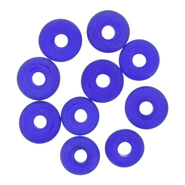Disco Vidro - Azul Transparente - Ref.: MD860  - Stéphanie Bijoux® - Peças para Bijuterias e Artesanato