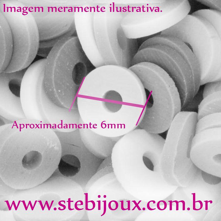 Disquinho de Borracha - Original® -  Colorido - 6mm  - Stéphanie Bijoux® - Peças para Bijuterias e Artesanato