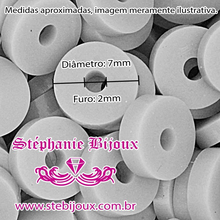 Disquinho - Laranja - 7mm  - Stéphanie Bijoux® - Peças para Bijuterias e Artesanato