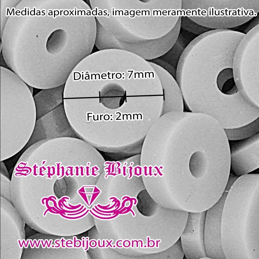 Disquinho - Marrom Claro - 7mm  - Stéphanie Bijoux® - Peças para Bijuterias e Artesanato