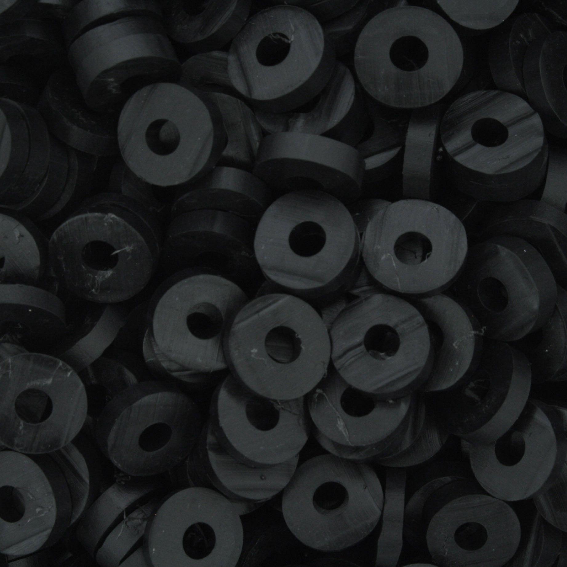 Disquinho - Preto - 7mm  - Stéphanie Bijoux® - Peças para Bijuterias e Artesanato