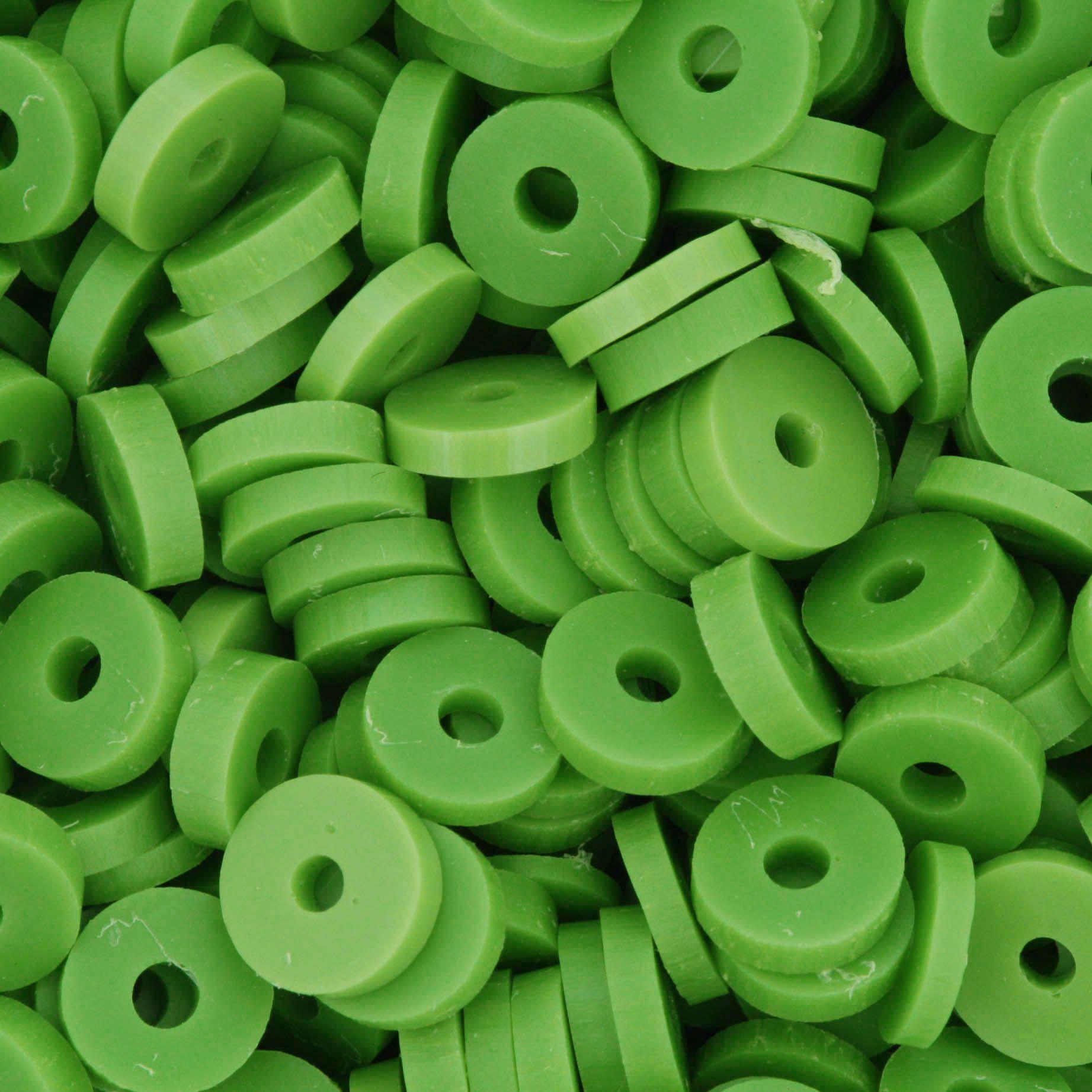 Disquinho - Verde - 7mm  - Stéphanie Bijoux® - Peças para Bijuterias e Artesanato