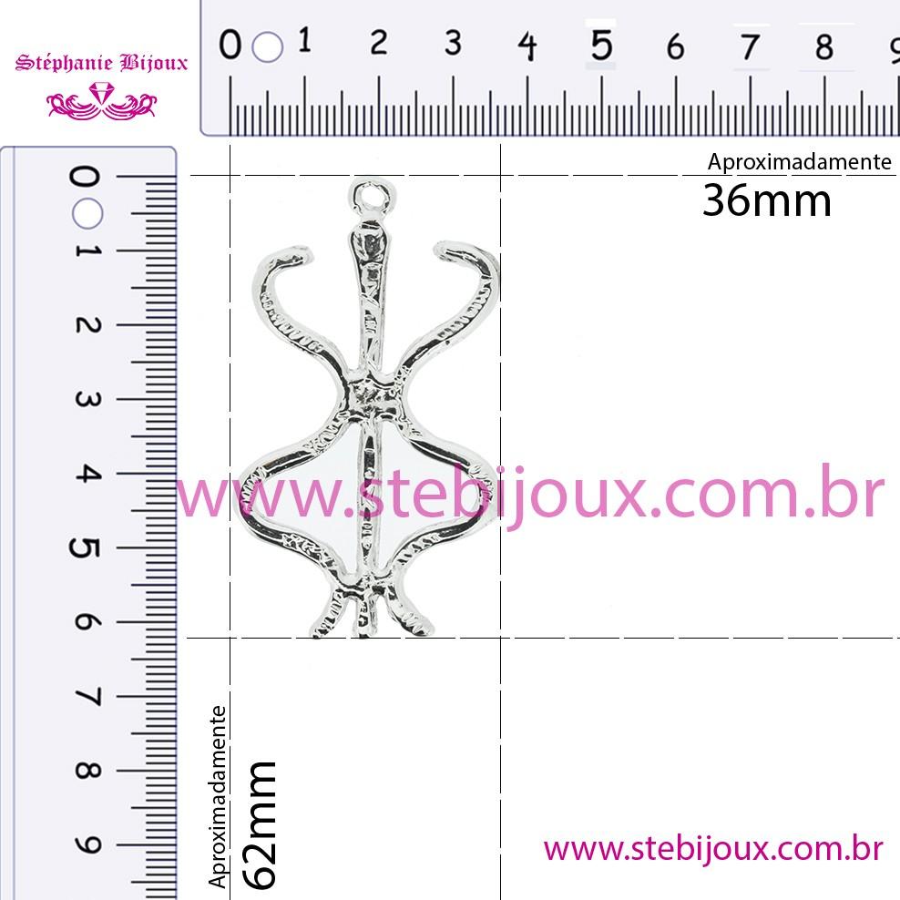 Ebiri - Níquel - 62mm  - Stéphanie Bijoux® - Peças para Bijuterias e Artesanato