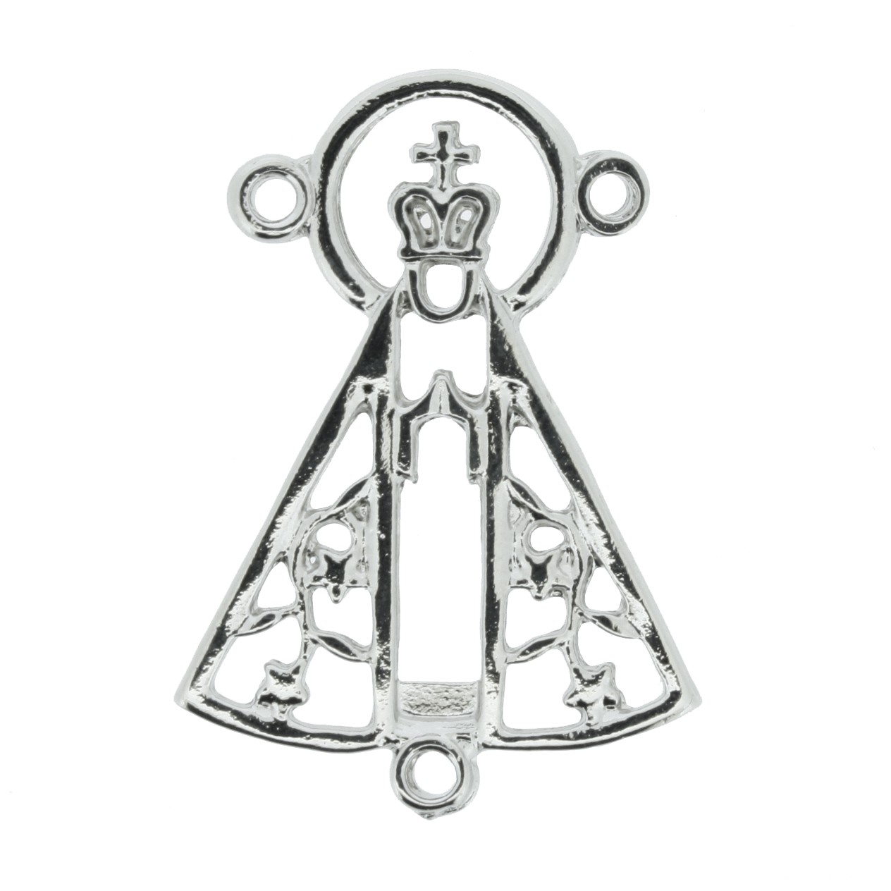 Entremeio Terço Nsa. Aparecida - Níquel - 35mm  - Stéphanie Bijoux® - Peças para Bijuterias e Artesanato