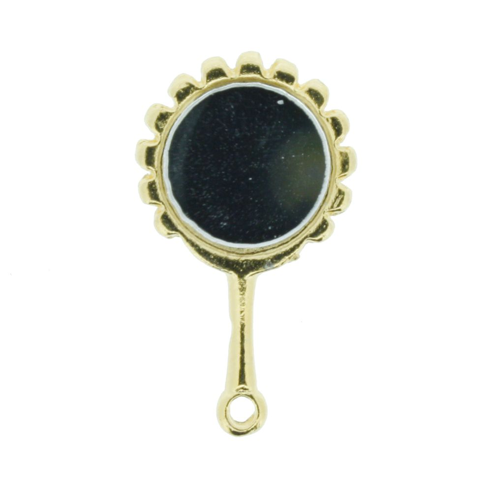 Espelho - Dourado - 26mm  - Stéphanie Bijoux® - Peças para Bijuterias e Artesanato
