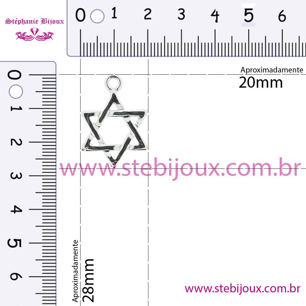 Estrela - Níquel - 28mm  - Stéphanie Bijoux® - Peças para Bijuterias e Artesanato