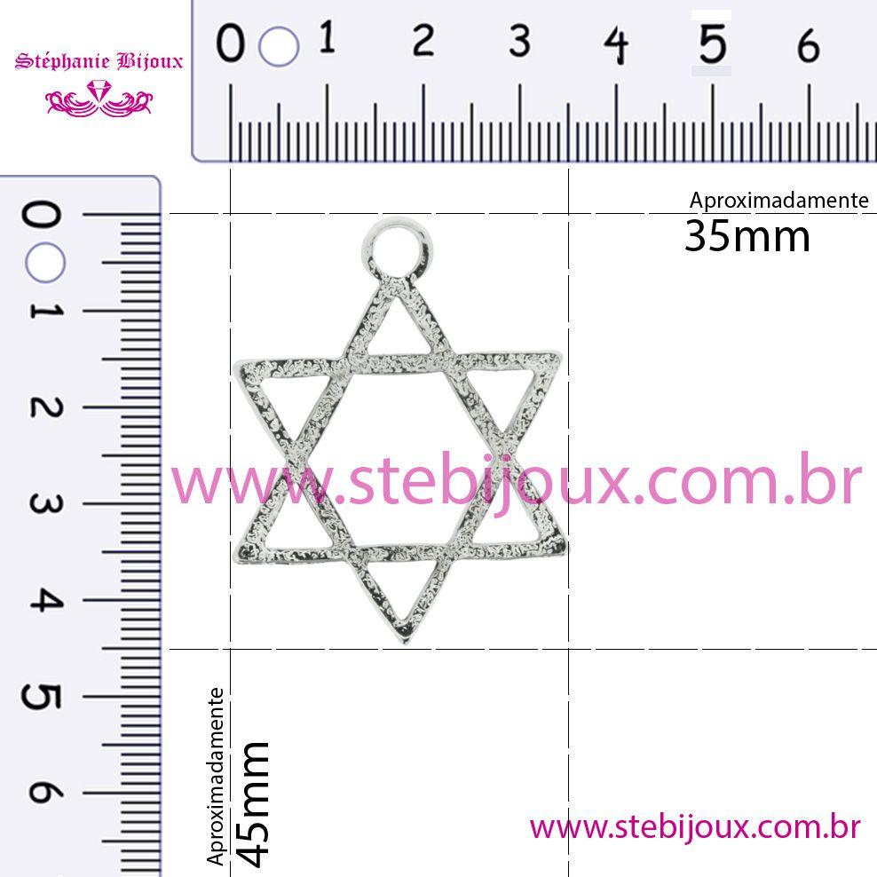 Estrela - Níquel - 45mm  - Stéphanie Bijoux® - Peças para Bijuterias e Artesanato