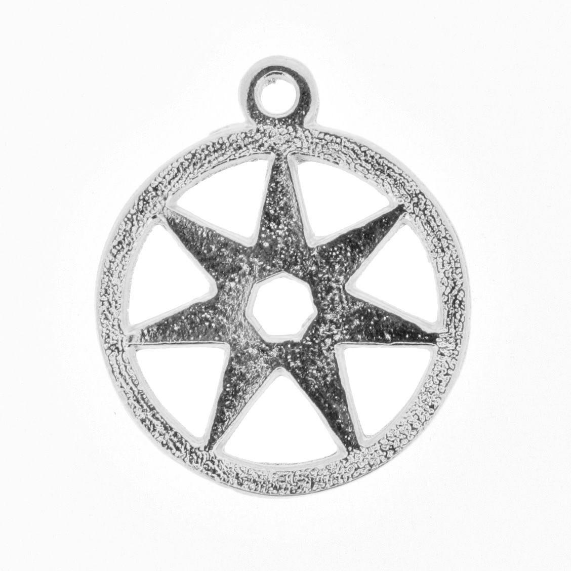 Estrela Sete Pontas - Níquel - 25mm  - Stéphanie Bijoux® - Peças para Bijuterias e Artesanato