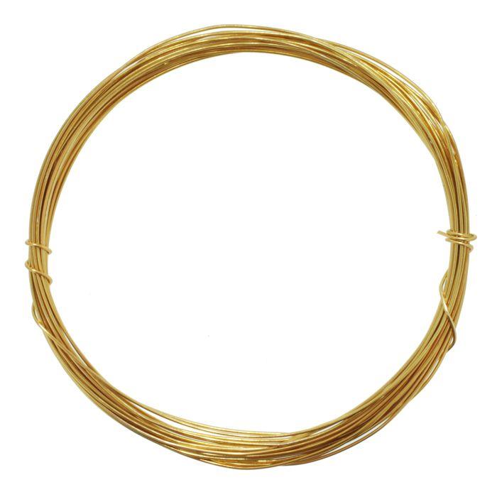 Fio de Arame -  Aluminum® - Dourado  - Stéphanie Bijoux® - Peças para Bijuterias e Artesanato