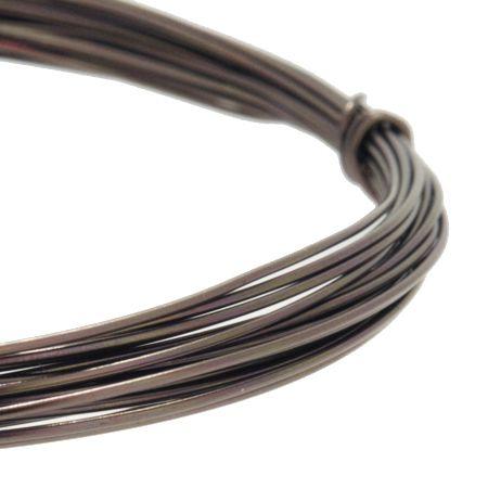 Fio de Arame -  Aluminum® - Marrom  - Stéphanie Bijoux® - Peças para Bijuterias e Artesanato