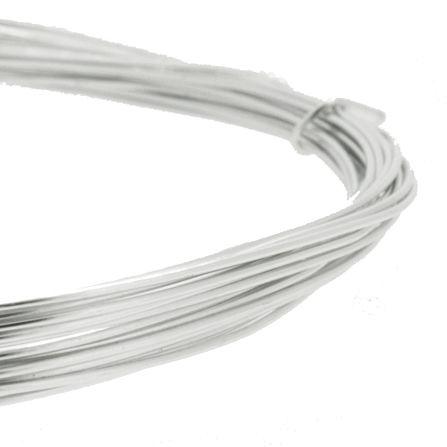 Fio de Arame -  Aluminum® - Prateado  - Stéphanie Bijoux® - Peças para Bijuterias e Artesanato