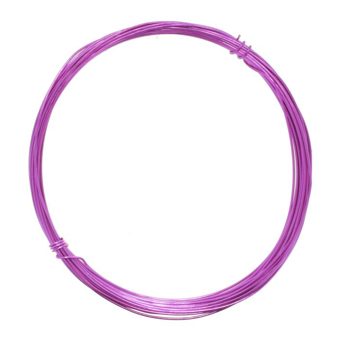 Fio de Arame -  Aluminum® - Rosa  - Stéphanie Bijoux® - Peças para Bijuterias e Artesanato