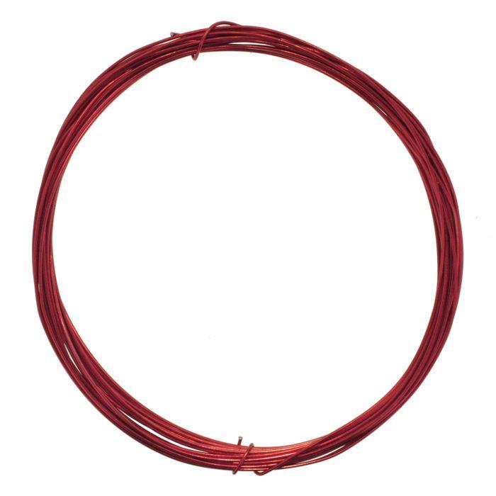 Fio de Arame -  Aluminum® - Vermelho  - Stéphanie Bijoux® - Peças para Bijuterias e Artesanato