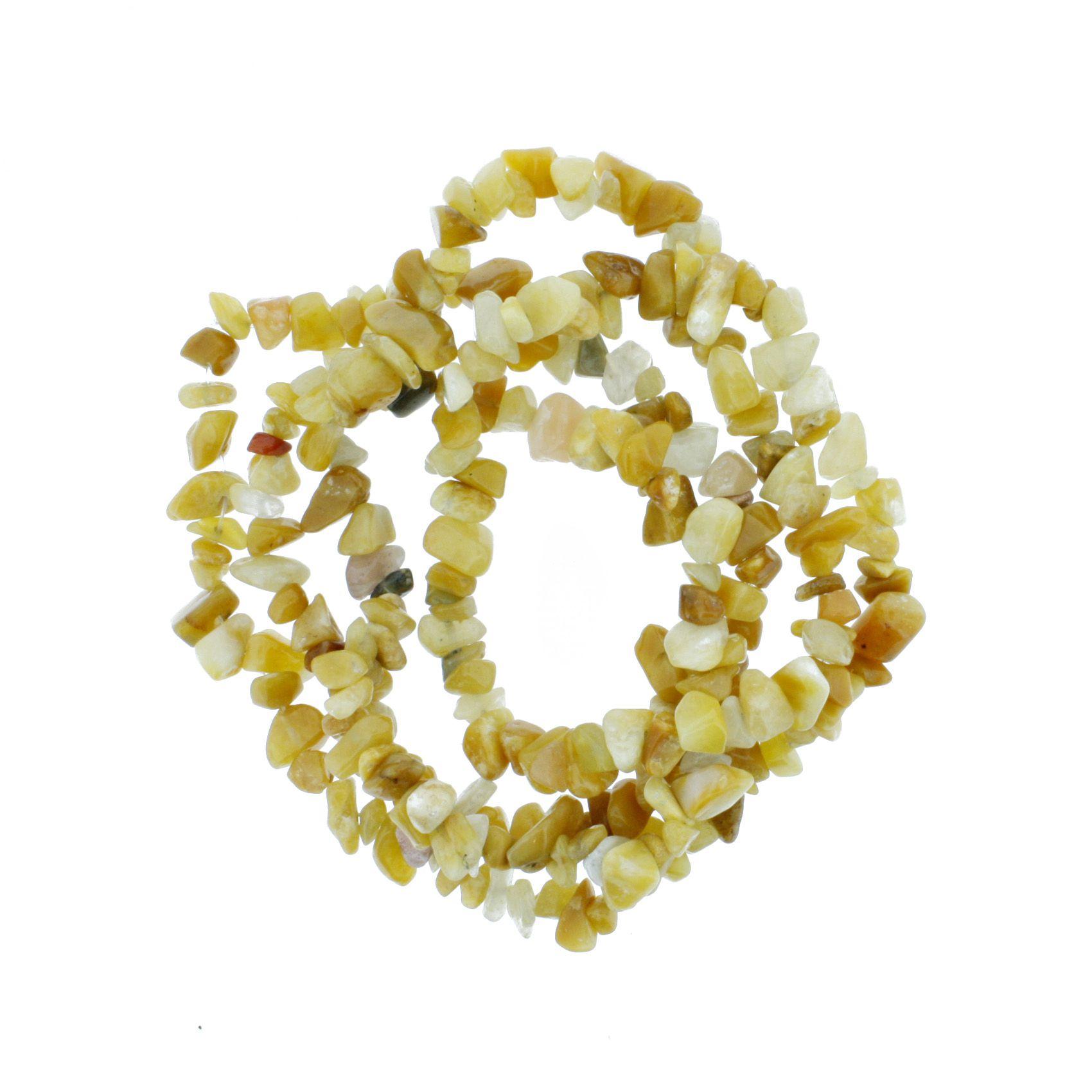 Fio de Cascalho - Stone® - Ágata Amarela  - Stéphanie Bijoux® - Peças para Bijuterias e Artesanato