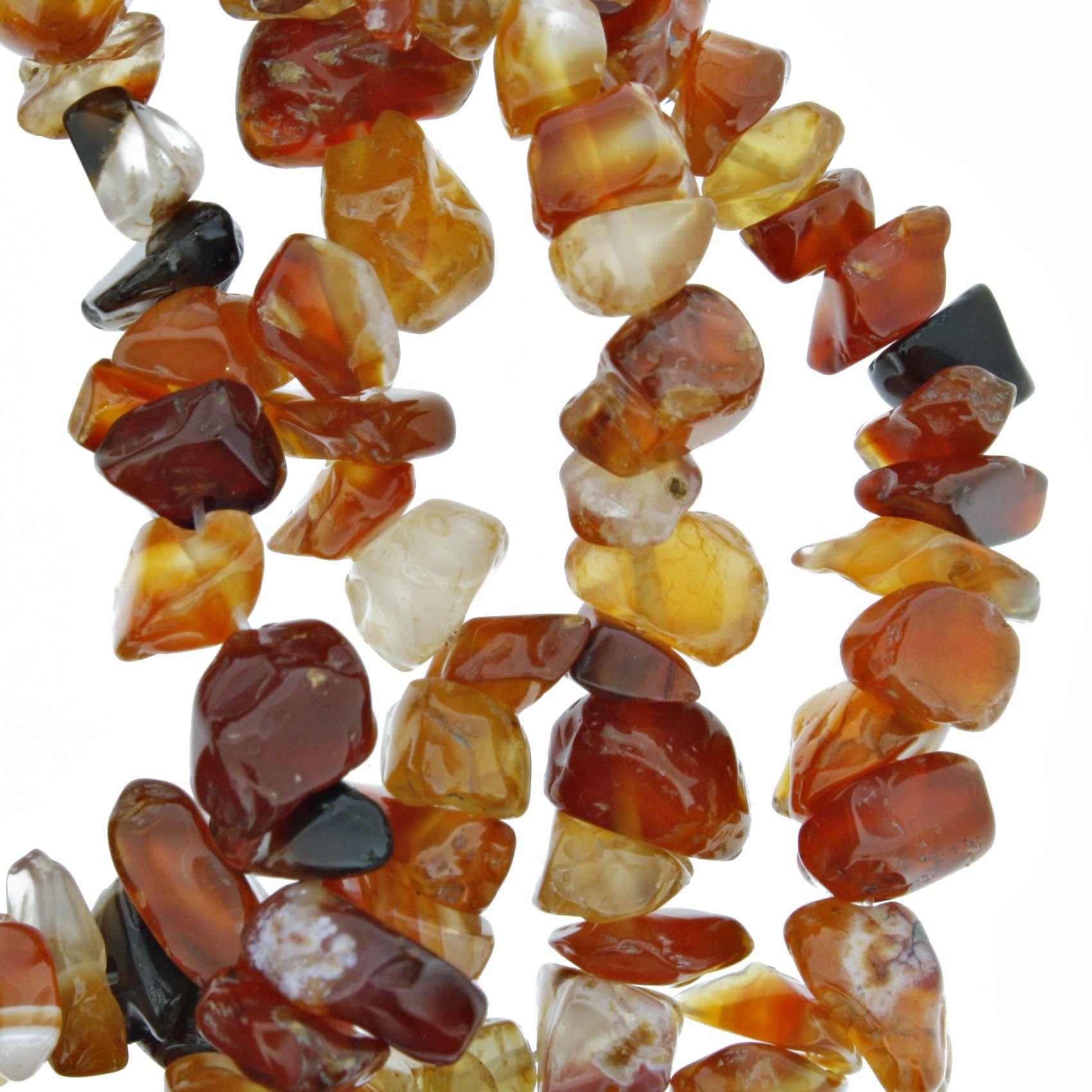 Fio de Cascalho - Stone® - Ágata de Fogo  - Stéphanie Bijoux® - Peças para Bijuterias e Artesanato