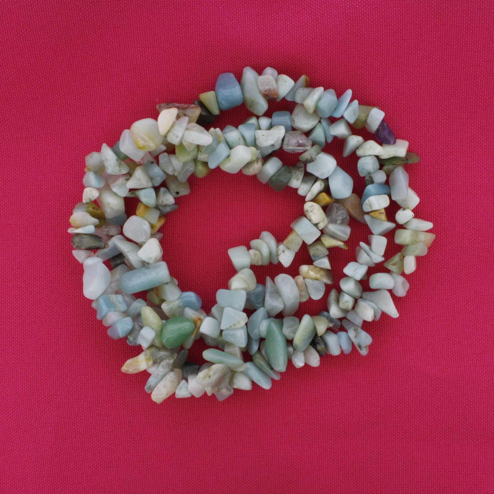 Fio de Cascalho - Stone® - Amazonita  - Stéphanie Bijoux® - Peças para Bijuterias e Artesanato