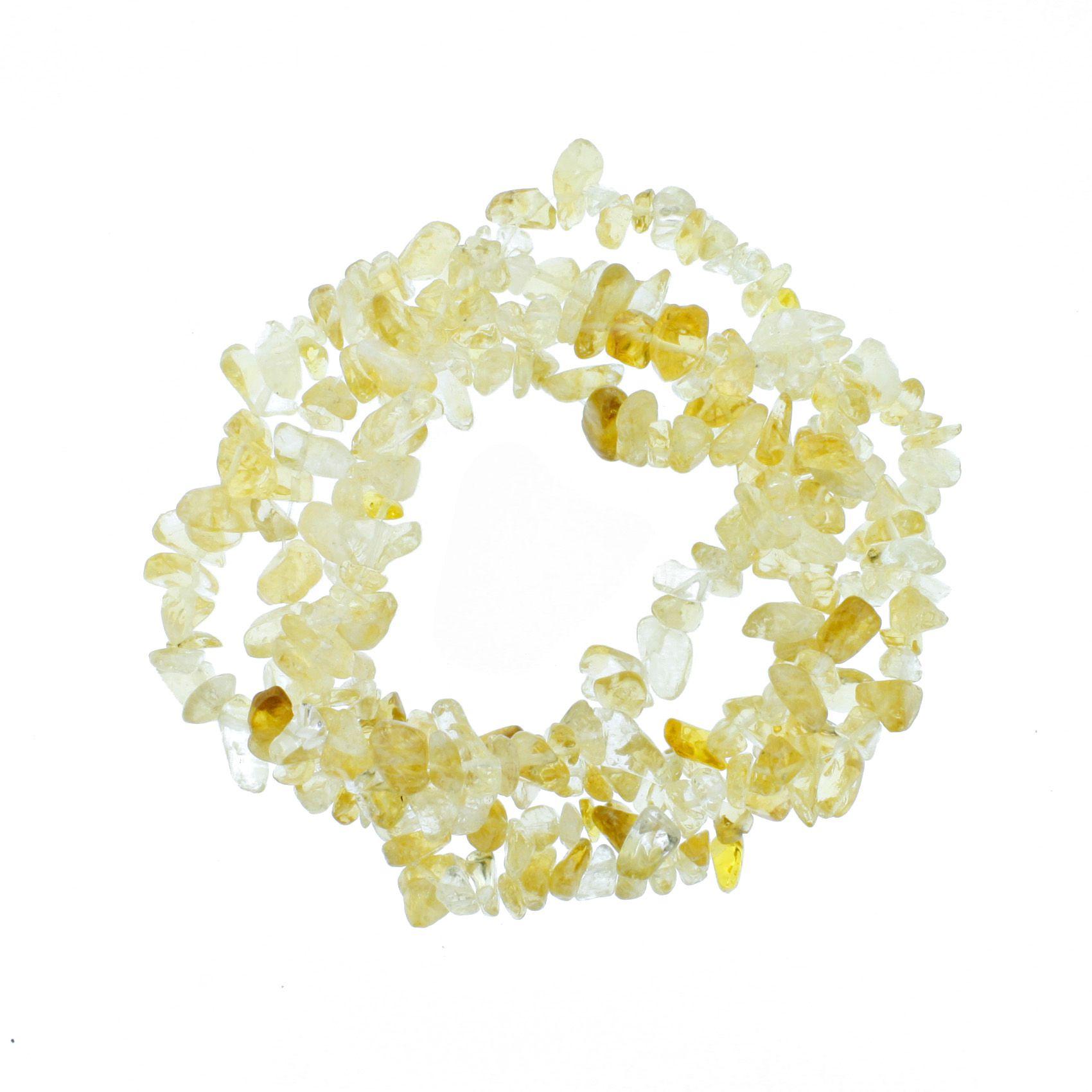 Fio de Cascalho - Stone® - Citrino  - Stéphanie Bijoux® - Peças para Bijuterias e Artesanato